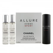 Chanel Allure Homme Sport EDT nachfüllbar 20ml + EDT Nachfüllung 2 x 20ml (man)