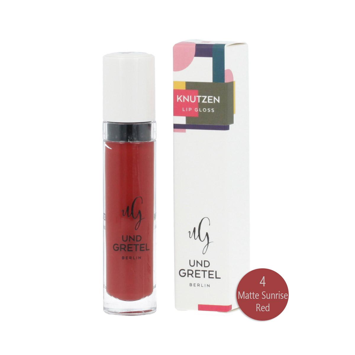 Und Gretel KNUTZEN Matte Lip Gloss (4 Matte Sunrise Red) 6 ml 12864