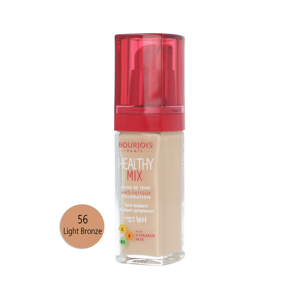 Bourjois Paris Healthy Mix Anti-Fatigue Foundation (56 Light Bronze) 30 ml 13852