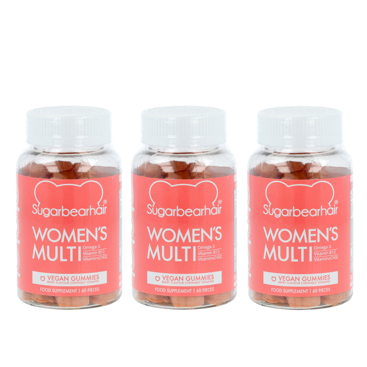 SugarBearHair Women's Multi Vitamins 3 x 60 St. 18592