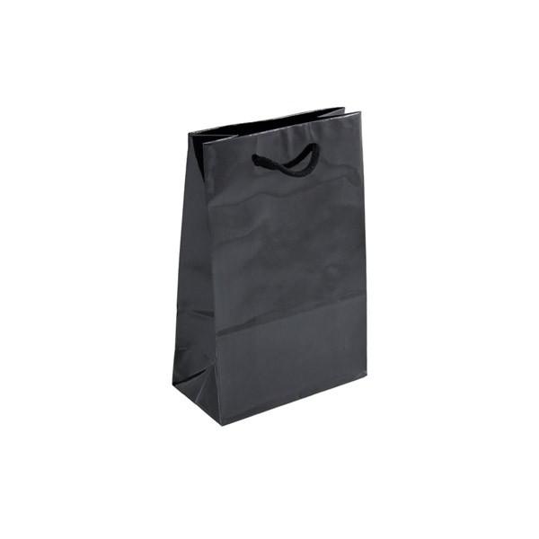 Geschenktüten Kleine Geschenktasche - Schwarz 16 x 8 x 24 cm 89081
