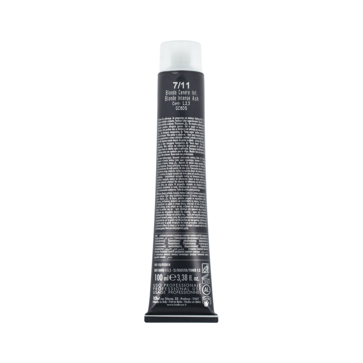 Inebrya Color Ash Intense (7/11 Blonde Intense Ash) 100 ml 94627