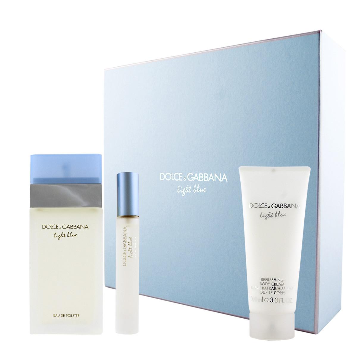 49fad91bb4bd9f Dolce   Gabbana Light Blue EDT 100 ml + EDT MINI 7,4 ml + BC 100 ml ...