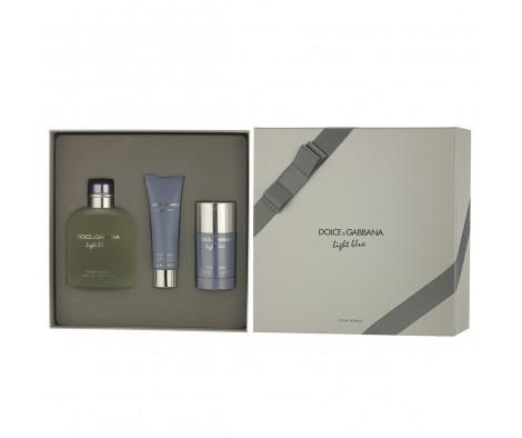 Dolce & Gabbana Light Blue pour Homme EDT 200 ml + DST 75 ml + SG 50 ml (man)