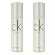 Calvin Klein CK One Deodorant - Zerstäuber 2 x 150 ml (unisex)